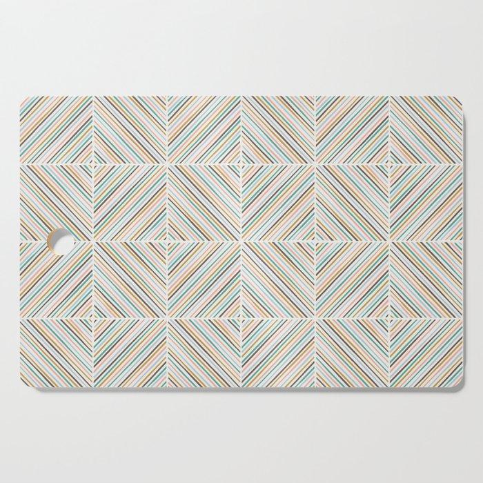 Herringbone Diamonds - Peach Cutting Board