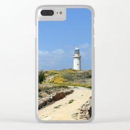 Lighthouse in Paphos Clear iPhone Case