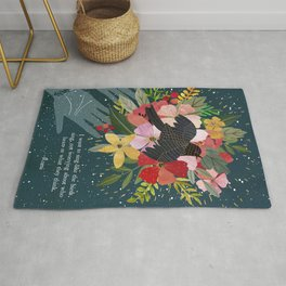 I want to sing, Rumi Quote, Poem Rug