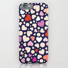 Ditsy Hearts (Reds & Pinks) Slim Case iPhone 6s