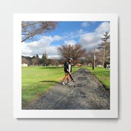 Skate With Me Metal Print