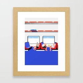make out on train Framed Art Print