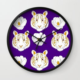 LSU purple Wall Clock