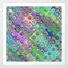 Abstract Pattern of Colorful Shapes  Art Print