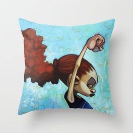 strong convictions Throw Pillow