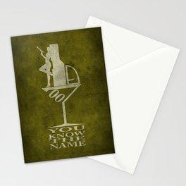 Movie Poster - Secret agent 7 Stationery Cards