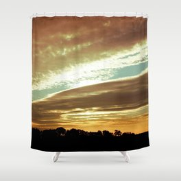 Dawn On The Side Shower Curtain