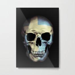 Swedish Skull Metal Print