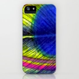Violet Fringed with Golden Amber iPhone Case