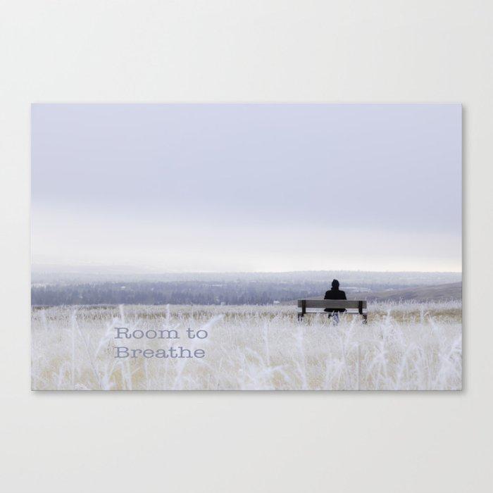 Winter walk; Room to breathe Canvas Print