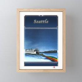 DW-001 Rainbows On Puget Sound Framed Mini Art Print
