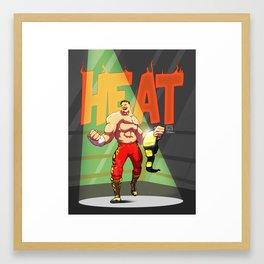 Edde Guerrero - Heat Framed Art Print