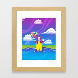 1997 It's That Scary Clown Framed Art Print