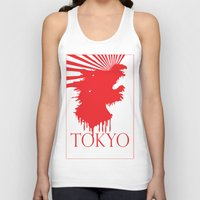 "tokyo Tank Tops featuring ""Tokyo"" by ICECREAM ROBOT"