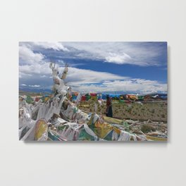 Colorful Tibetan Buddhist Prayer Flags Metal Print