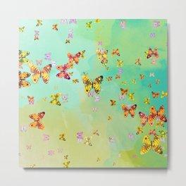 Butterflies on springtime Metal Print