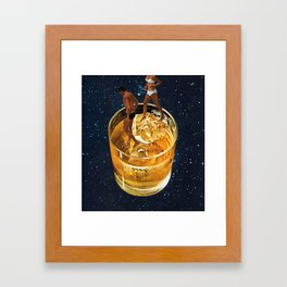 Space Date Framed Art Print
