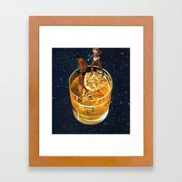 Space Date Framed Art Print