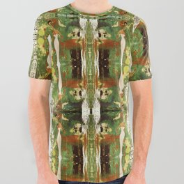 Out there in the woods, I feel peace........ All Over Graphic Tee
