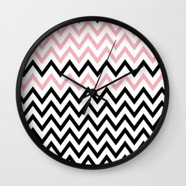 ZIGZAG Pattern Wall Clock