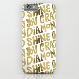 Shine On You Crazy Diamond – Gold Palette iPhone Case