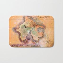 Never Land Map Bath Mat