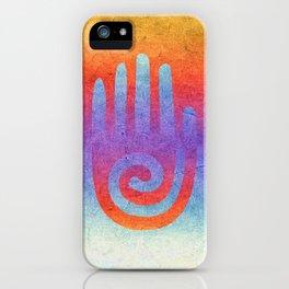 Spiral Hand Rainbow Grunge II iPhone Case