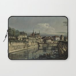 Bernardo Bellotto - A view of the moat of the Zwinger Laptop Sleeve