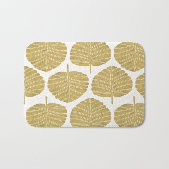 Elephant Ear Alocasia – Gold Palette Bath Mat