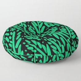 Leaf Pattern - Green Floor Pillow