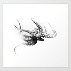 Octopus Rubescens Art Print