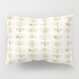 Evil Eyes – Gold Palette Pillow Sham