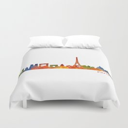 Paris City Skyline Hq v1 Duvet Cover