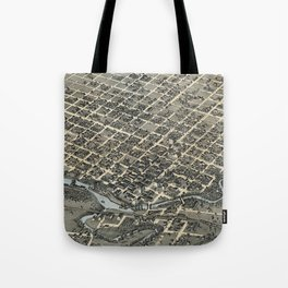 Vintage Pictorial Map of Houston Texas (1873) Tote Bag