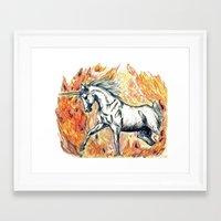 unicorn Framed Art Prints featuring Unicorn by Stephanie Stonato