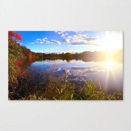 Lake Sun Canvas Print