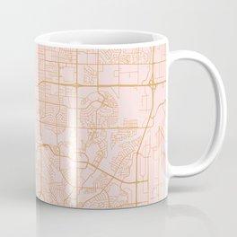Colorado Springs map Coffee Mug