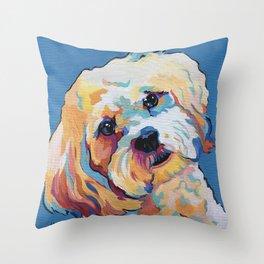 Maltipoo, Cavapoo, Cavachon, Cockerpoo, Mix Breed Custom Pop Art Pet Portrait Throw Pillow