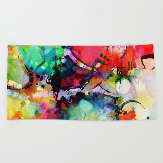 Color Cacophony Beach Towel