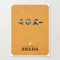legend of zelda Canvas Prints featuring The Legend of Zelda by Brandon Riesgo