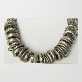 Mongolian silver necklace Rug