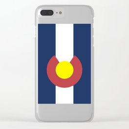 Colorado State Flag, USA Clear iPhone Case