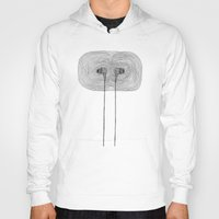 headphones Hoodies featuring Headphones by Miguel Villasanta