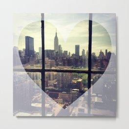 the heart of new york Metal Print