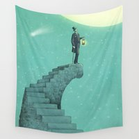 astronomy Wall Tapestries featuring Moon Steps by Eric Fan
