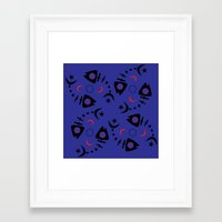 occult Framed Art Prints featuring Occult Fish by Lucky Nothin