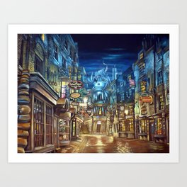 Diagon Alley Art Print