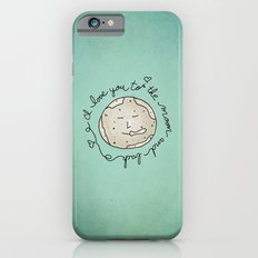 I Love You To The Moon And Back (blue) iPhone 6s Slim Case