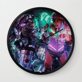 Robot Girl 2 Wall Clock