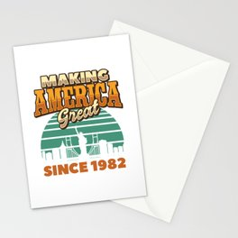 Making America Great Since 1982 Vintage Birthday Gift Idea Stationery Cards